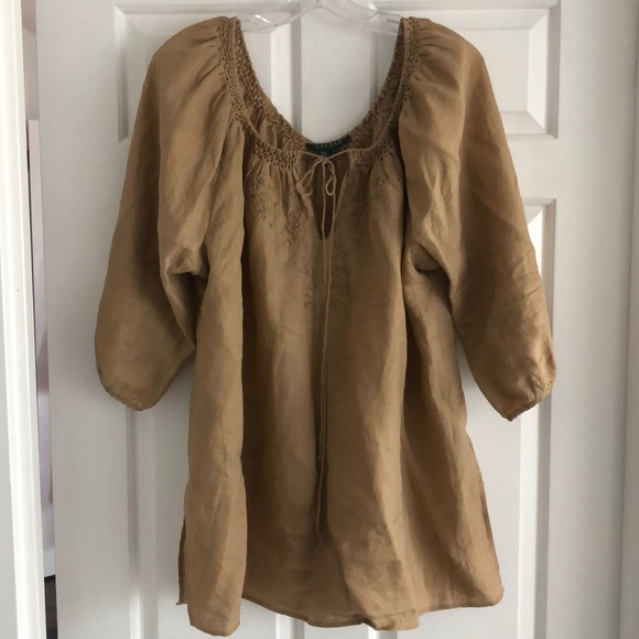 Lauren Ralph Lauren Tops - Lauren Ralph Lauren Brown tunic top